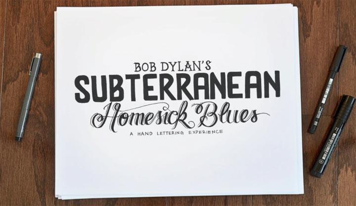 Bob Dylan: Handgeschriebene Neuauflage subterranean_Homesick_Blues