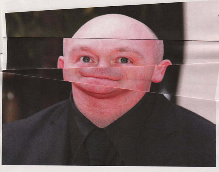 Ross Kemp hat Falten im Gesicht