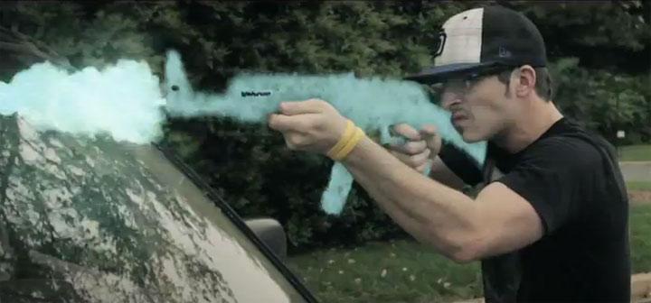 Kreidewaffenschießerei Kreidewafffenshooter