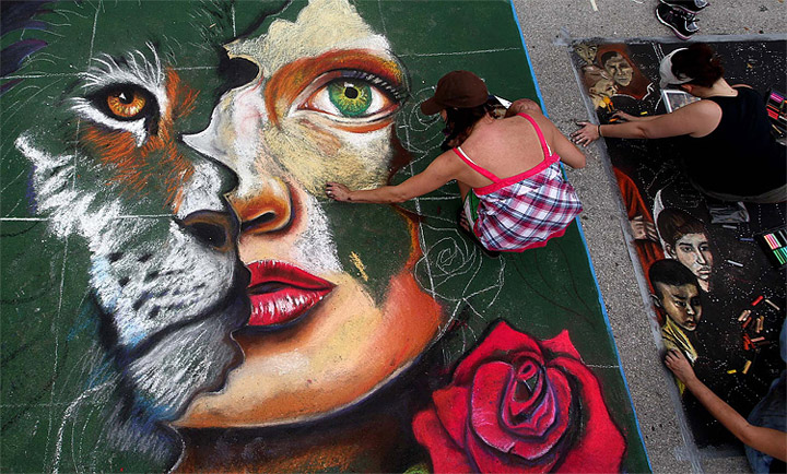 Lake Worth's Street Painting Festival 2012