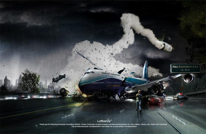 Photoshop Timelapse: Luftbanza Airlines Luftbanza_photoshopping