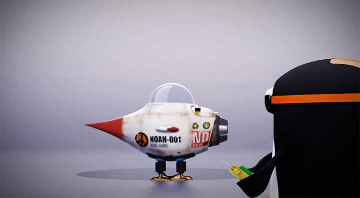 Animation: Erster Pinguin im Weltall? Noahs_world