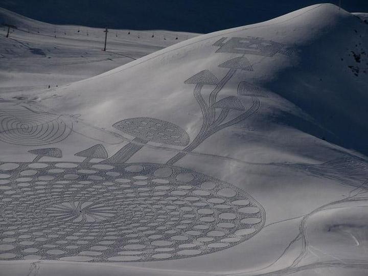 Geometrische Schneemusterkunst Simon_Beck_07