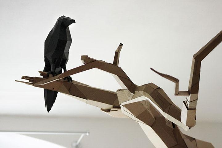 Papp-Skulpturen von Bartek Elsner Bartek_Elsner_02