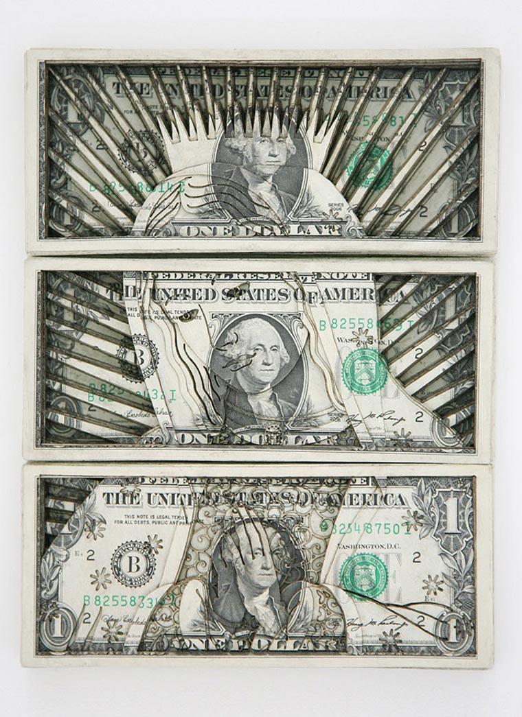 Laser Cut Dollar Bills