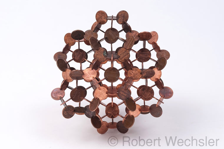 geometrische Skulpturen aus Münzen Robert_Wechsler_03