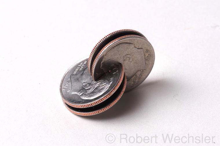 geometrische Skulpturen aus Münzen Robert_Wechsler_05