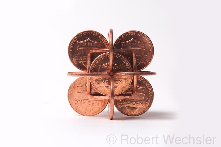 geometrische Skulpturen aus Münzen Robert_Wechsler_06