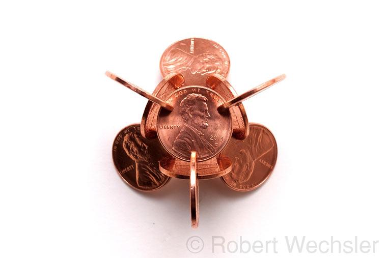 geometrische Skulpturen aus Münzen Robert_Wechsler_07