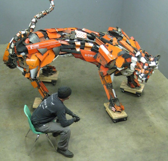 Scrap Metal Sculptures