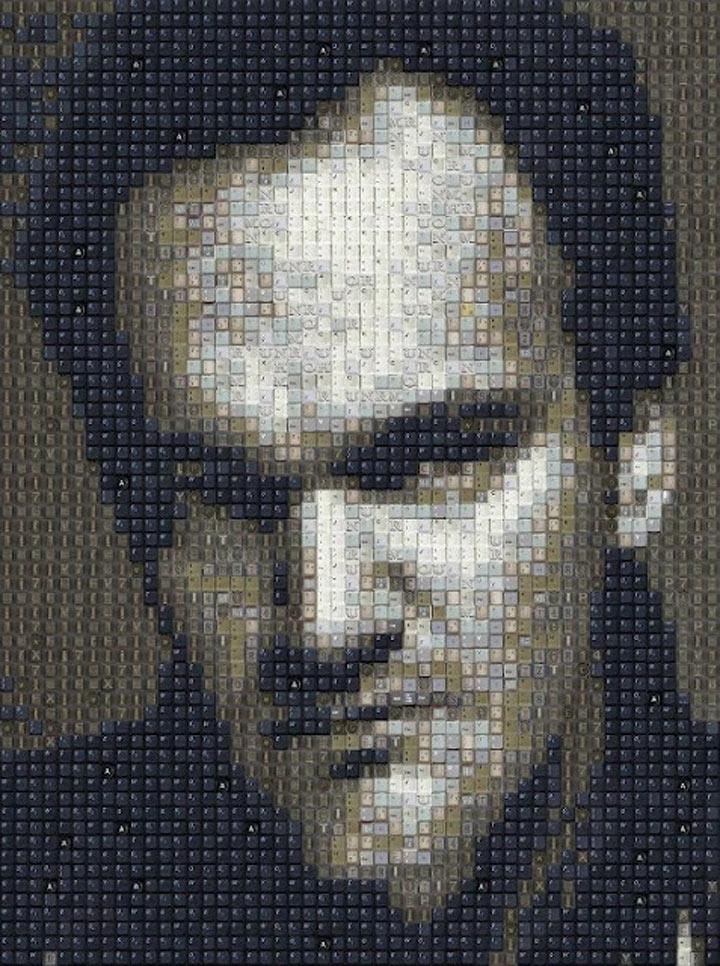 Tastaturtastenmosaikportraits Tastaturtastenportraits_07
