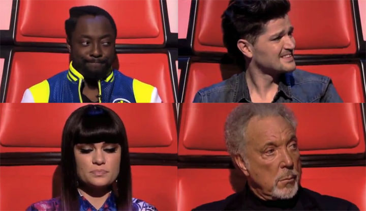 The Voice-Juroren (UK) hören sich selbst Voice_of_UK_jury