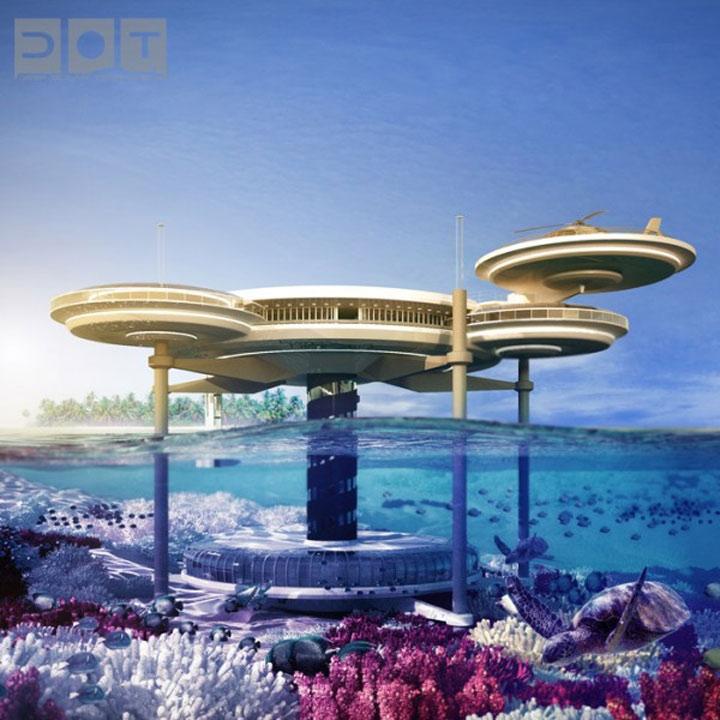 Unterwasser-Überwasser-Hotel Water_discus_hotel_09