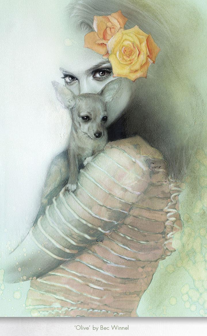 hyperrealistische Zeichnungen: Bec Winnel