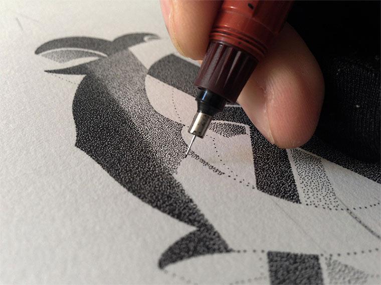 Beeindruckende Tintenpunkt-Typgrafien Casalta_Xavier_05