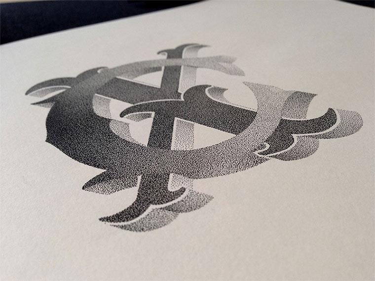 Beeindruckende Tintenpunkt-Typgrafien Casalta_Xavier_06