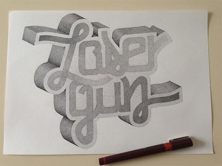 Beeindruckende Tintenpunkt-Typgrafien Casalta_Xavier_07