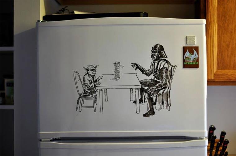 Zeichnungen auf Kühlschränken: Charlie Layton Charlie_Layton_02