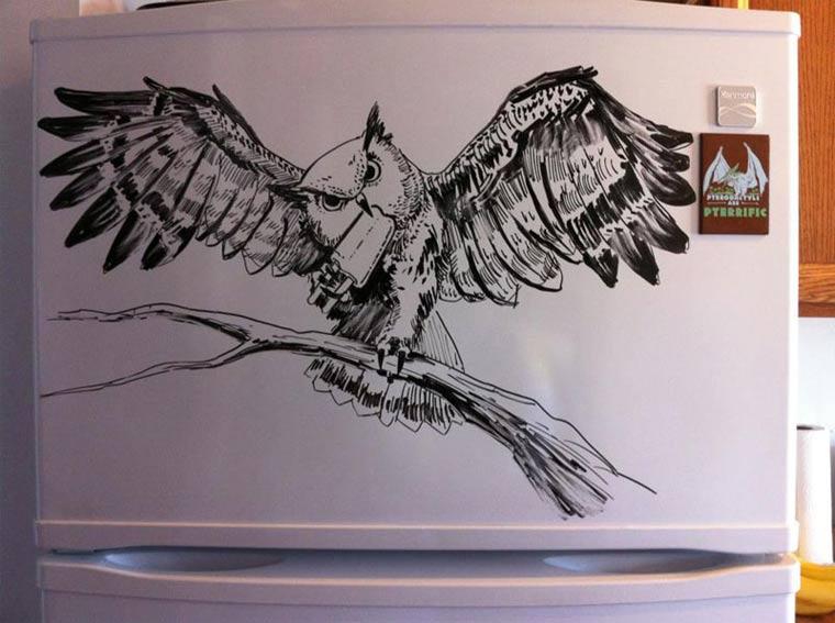 Zeichnungen auf Kühlschränken: Charlie Layton Charlie_Layton_03