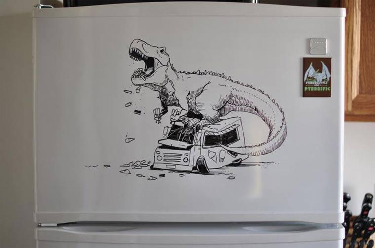 Zeichnungen auf Kühlschränken: Charlie Layton Charlie_Layton_05
