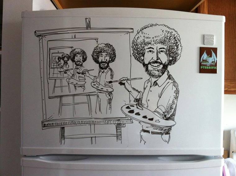 Zeichnungen auf Kühlschränken: Charlie Layton Charlie_Layton_06