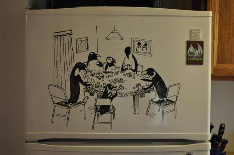 Zeichnungen auf Kühlschränken: Charlie Layton Charlie_Layton_07