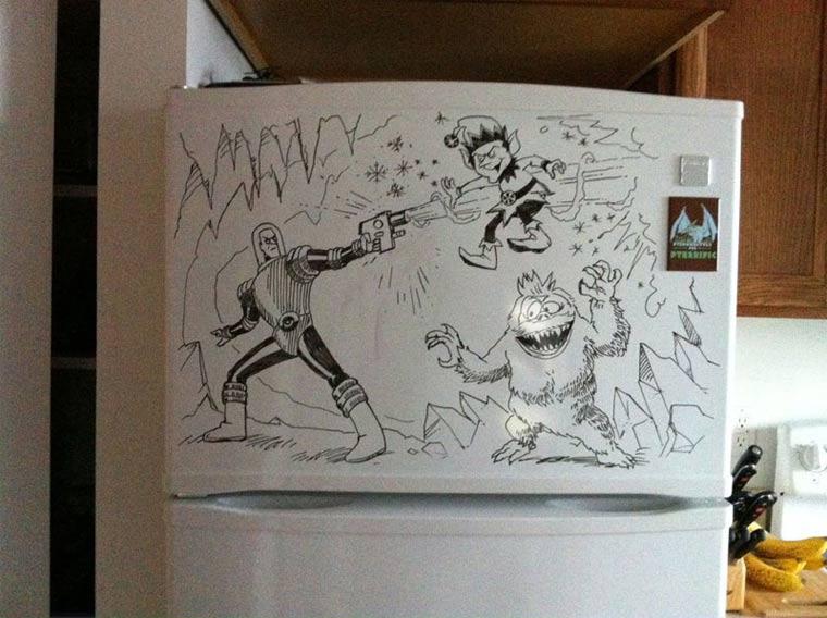 Zeichnungen auf Kühlschränken: Charlie Layton Charlie_Layton_13