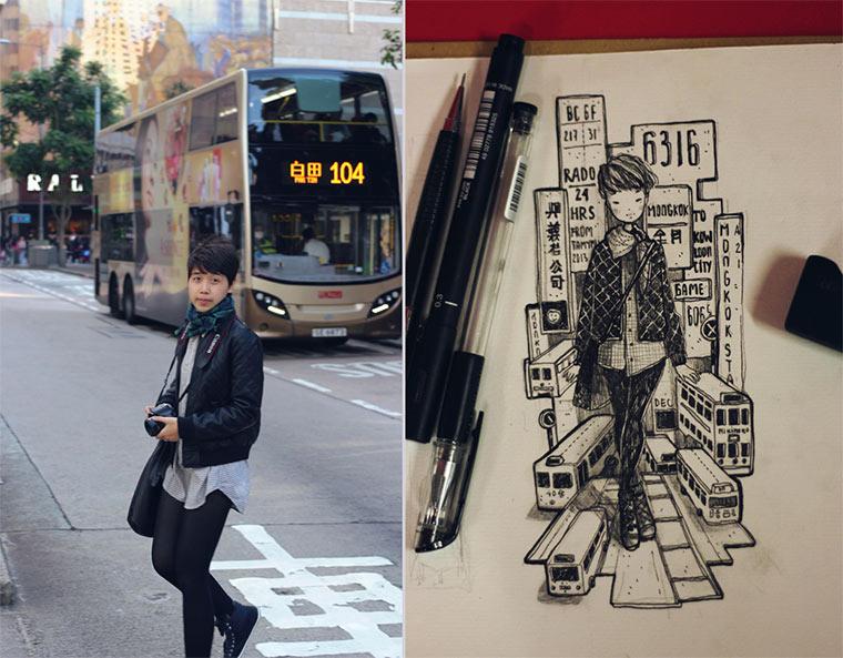 Gezeichnete Selbstportraits Draw_Myself_01