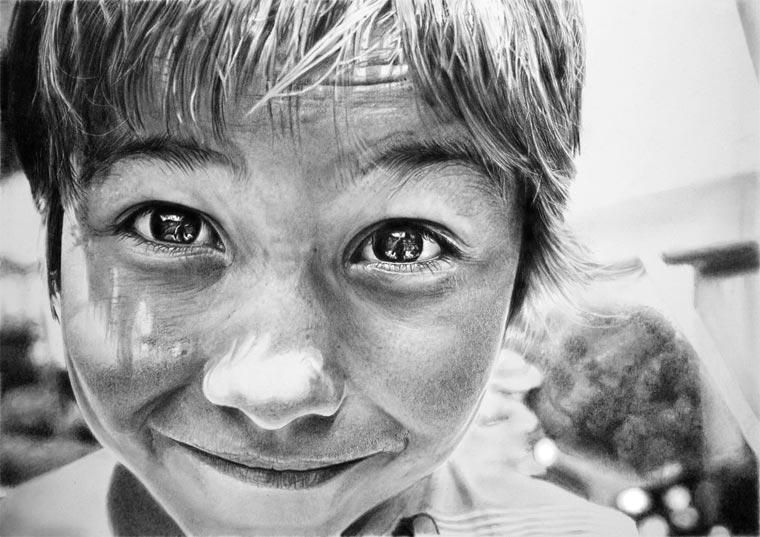 superrealistische Portraitzeichnungen von Franco Clun