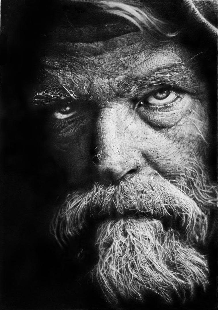 superrealistische Portraitzeichnungen: Franco Clun Franco_Clun_03