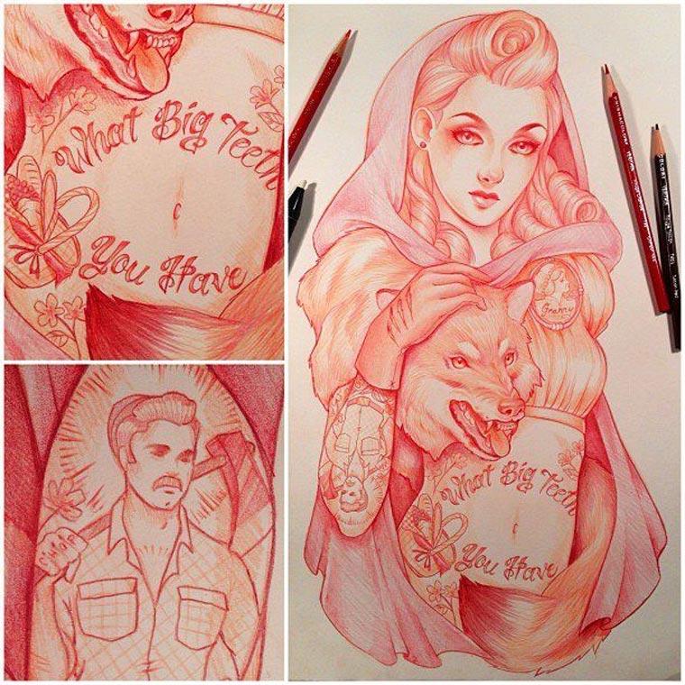 Zeichnungen von Glenn Arthur