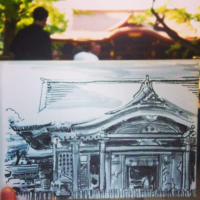 Skizzen aus Tokio Hama-House_03