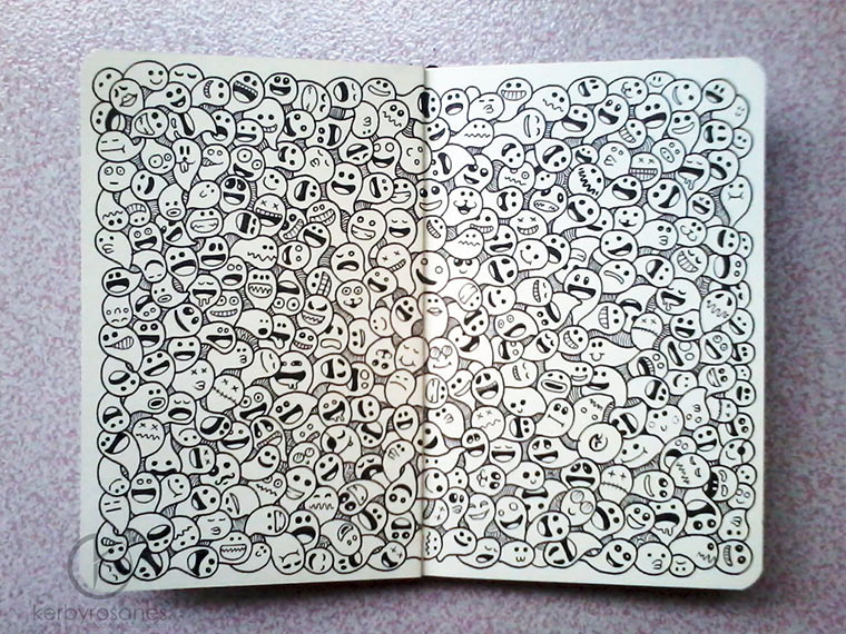 Notizbuchzeichnungen von Kerby Rosanes