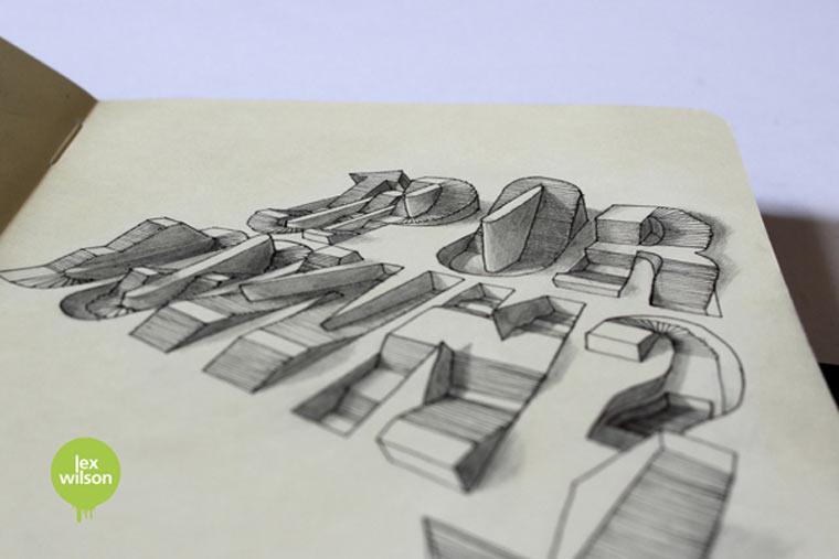 3D-Typografie von Lex Wilson Lex_Wilson_05