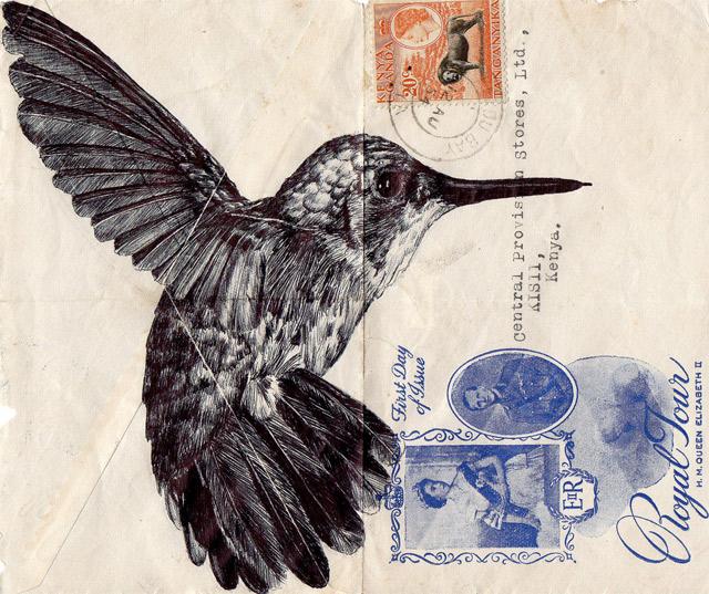 Portrait-Zeichnungen auf Briefumschlägen Mark_Powell_03