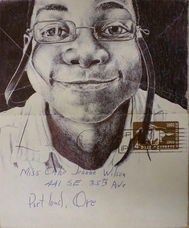 Portrait-Zeichnungen auf Briefumschlägen Mark_Powell_05