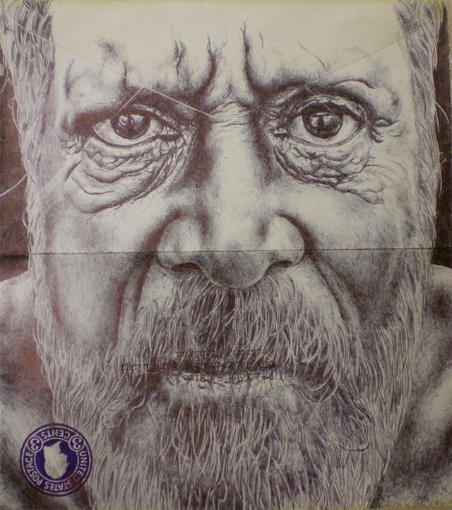 Portrait-Zeichnungen auf Briefumschlägen Mark_Powell_06