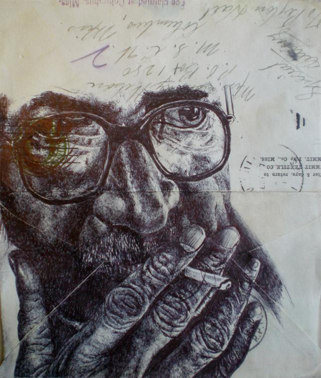 Portrait-Zeichnungen auf Briefumschlägen Mark_Powell_07