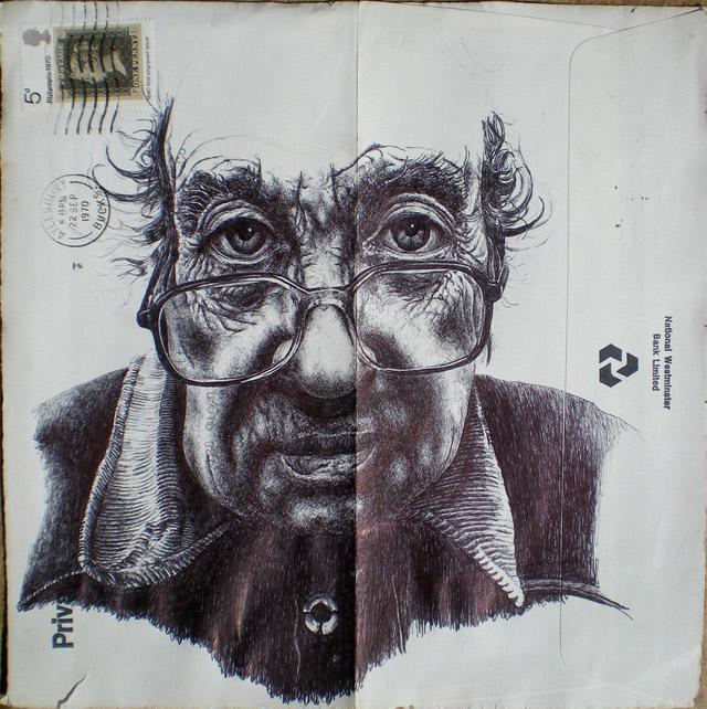 Portrait-Zeichnungen auf Briefumschlägen Mark_Powell_11