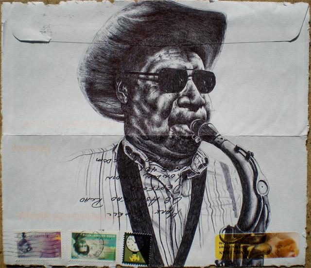 Portrait-Zeichnungen auf Briefumschlägen Mark_Powell_12