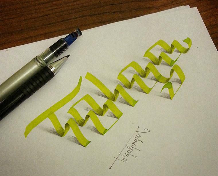 3D-Typografie: Tolga Girgin Tolga_Girgin_01