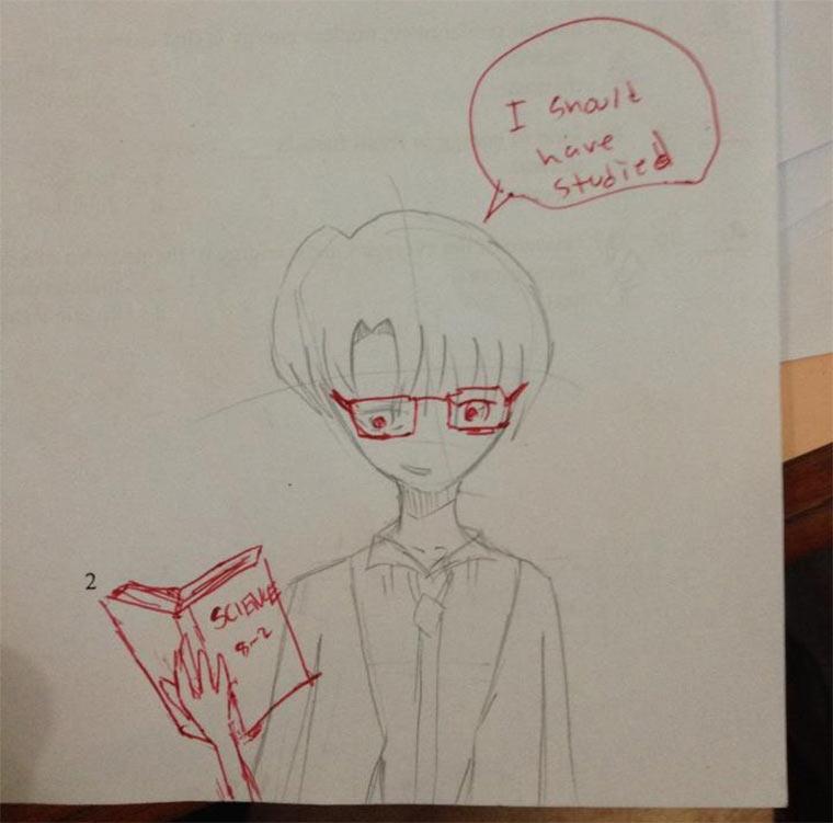 Lehrer vervollständigt Schülerzeichnungen lehrerzeichnungen_01