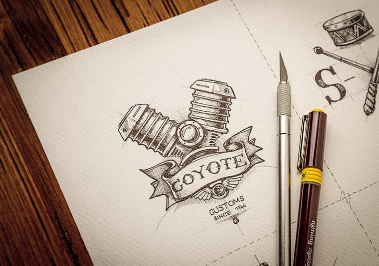 20 gezeichnete Logoskizzen logoskizzen_01