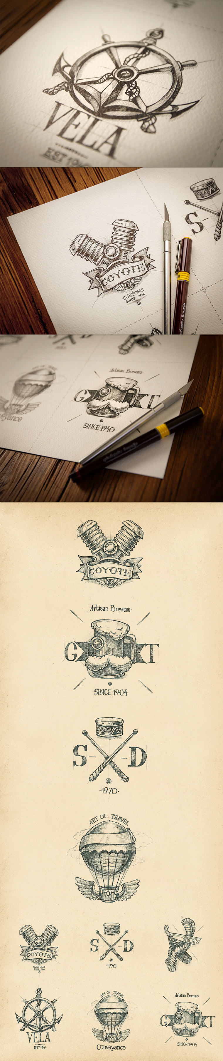 20 gezeichnete Logoskizzen logoskizzen_02