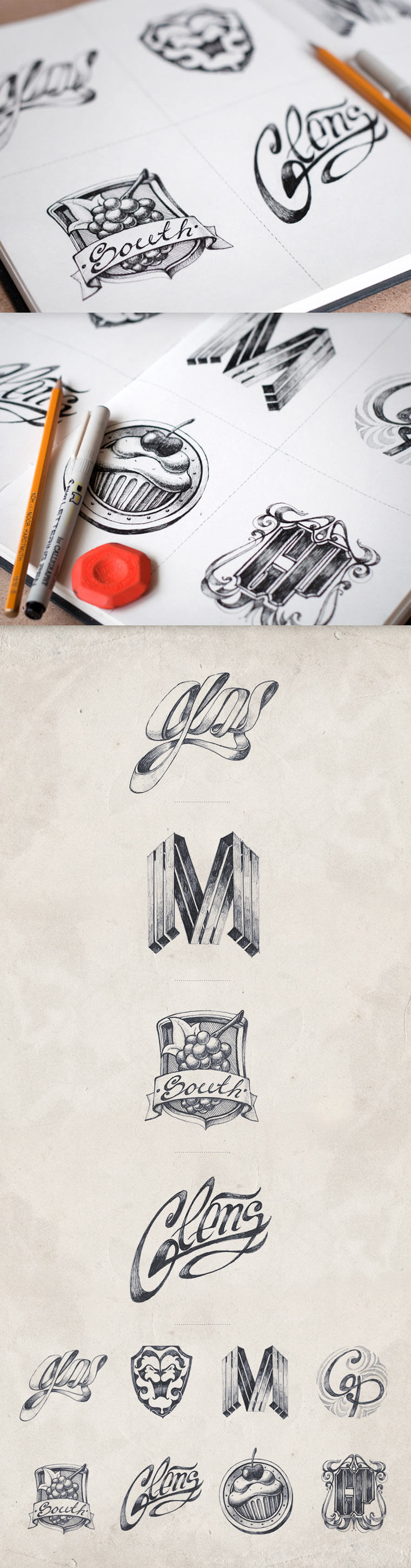 20 gezeichnete Logoskizzen logoskizzen_04