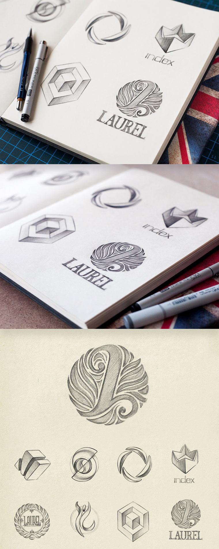 20 gezeichnete Logoskizzen logoskizzen_05