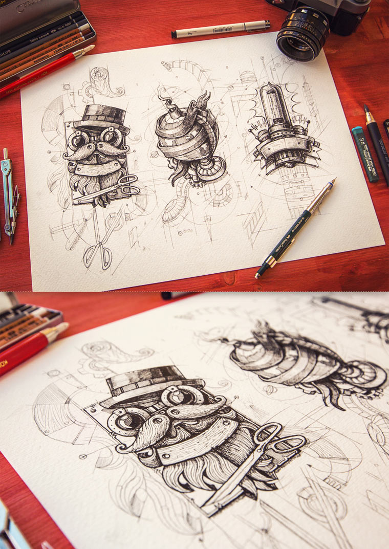 20 gezeichnete Logoskizzen logoskizzen_08