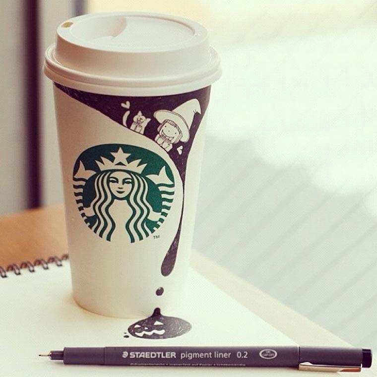 Starbucks-Zeichnungen: Tomoko Shintani tokomo_starbucks_drawings_02