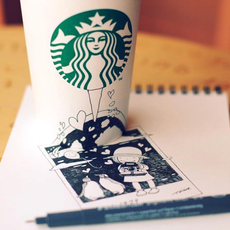 Starbucks-Zeichnungen: Tomoko Shintani tokomo_starbucks_drawings_10