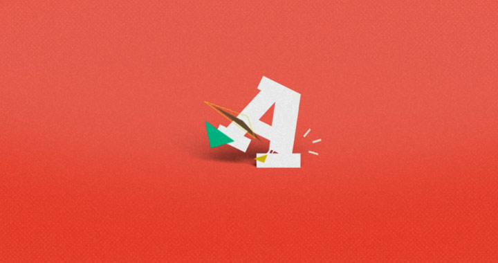 Typo-Gold: Animiertes Alphabet